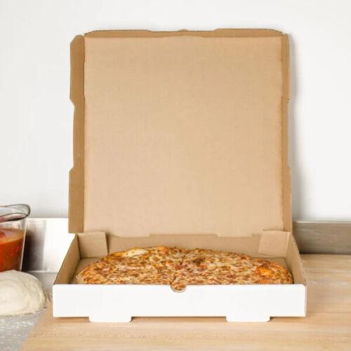 "Durable Pizza Box 18"" x 18"" x 2"" White Corrugated Plain Pizza Bakery Box -50Pack"