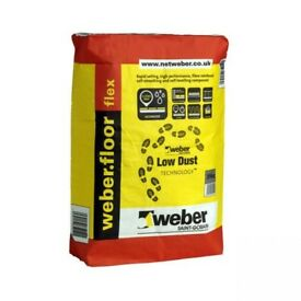 Weber floor flex self levelling compound, 5x bags