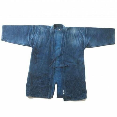 Vintage Indigo Kendo Jyudo gi Jacket uniform XL Japanese Martial Arts Aizome F/S