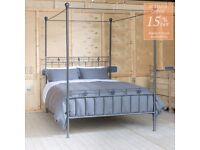Nights in Iron King Size Four Poster Bed. Great condition. £1150 new!