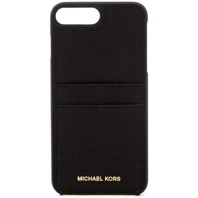 Michael Kors Hardshell Saffiano Wallet Case for iPhone 8 Plus / 7 Plus - Black