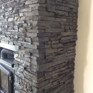 REDUCED! Pewter stacked stone....1/2 box flats 1/2 box corners