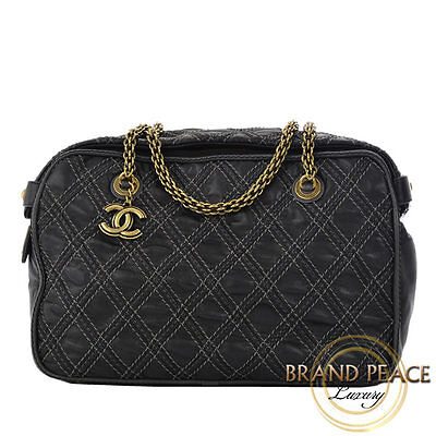 Chanel Wild Stitch chain Boston lambskin black Free Shipping