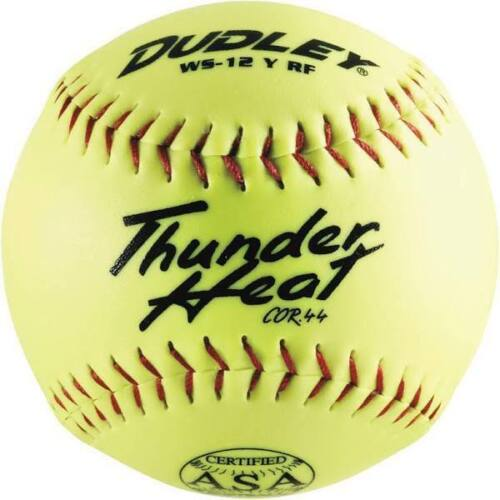 "Dudley Thunder Hycon 12"" ASA Slowpitch Softball dozen 4A069Y"