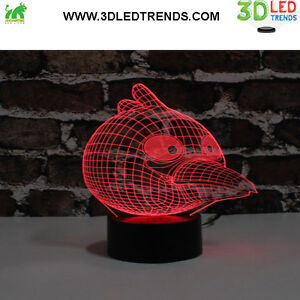 3D LED Night Light Illusion with ABS Base *7 changing colors* Kitchener / Waterloo Kitchener Area image 6