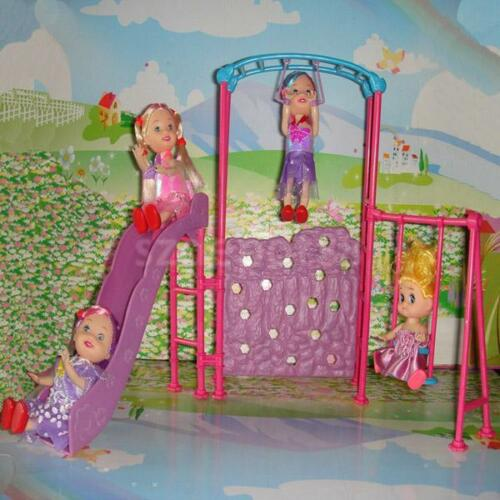 Vintage Playground Slides Climber For Barbie Kelly Dolls Dollhouse Furniture Ebay