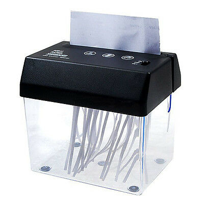 Compact Shredder Shredding Head with Waste Basket Bin fit over A6 Paper w Shred