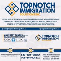 TOPNOTCH IMMIGRATION SOLUTIONS INC. anupreetsandhu79@gmail.com