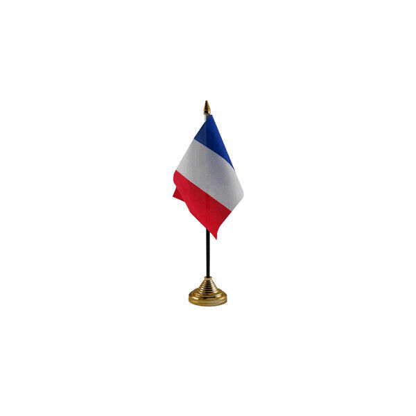 France Table Desk Flag - 10 x 15 cm National Country Hand Waving Europe