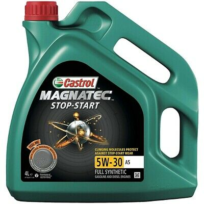 4L Car Engine Oil 4 Litres 5W30 A5 Fully Synthetic - Castrol Magnatec Stop-Start