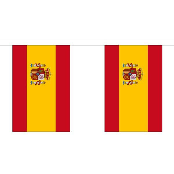 Spain Flag Bunting - 3m 6m 9m Metre Length 10 20 30 Flags - State Crest Spannish