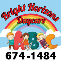 Bright Horizons Daycare, Dever Rd West Spaces are Now available