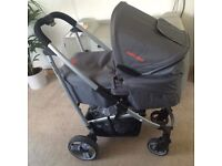 Baby GoGo Pram with car seat and the pushchair for sale