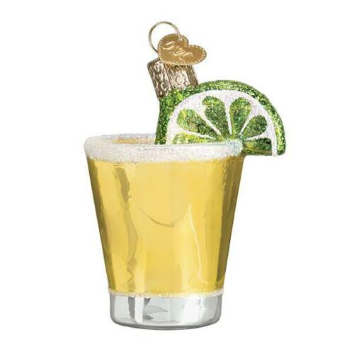 Tequila Shot Glass Ornament Old World Christmas New with Gift Box