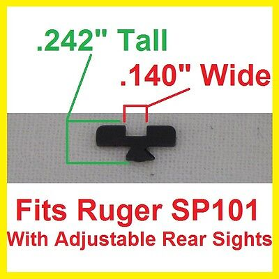 RUGER Rear Black Sight BLADE ajustable sight SP101 357mag  22LR W05917 WO5917