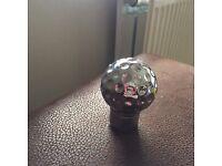 Golf ball gear knob