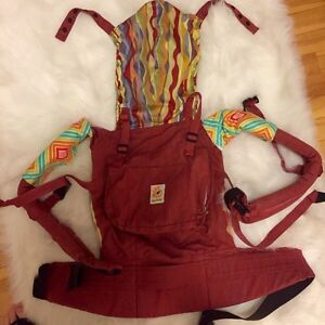 RED ERGO BABY CARRIER