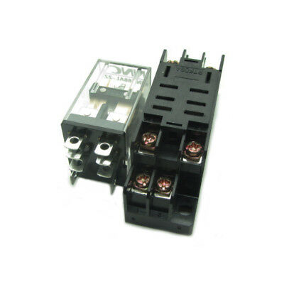 Dc 12v Coil Power Relay 12a Dpdt Ly2nj Hh62p Nnc68al-2z Din Rail Socket Base