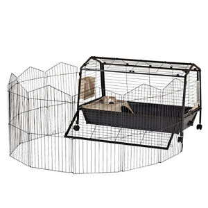 Guinea Pig or Rabbit Cage + Play Yard