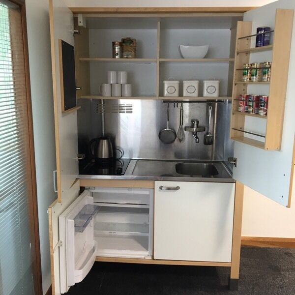 IKEA mini kitchen in a cupboard in Newport
