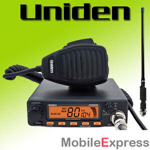 Uniden UH089NB 80 Channel 5 Watt in-car UHF CB Radio + BONUS 4.5dB 330mm Antenna