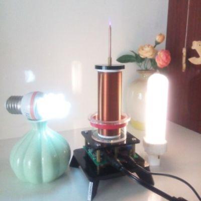 Power Plasma Speaker Music Tesla Coil Wireless Transmitter Generator Lighting