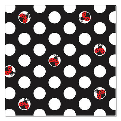 Ladybug Birthday Party Supplies Small Beverage Napkins
