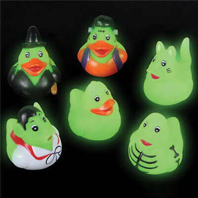 Halloween Rubber Duck (24 PC Glow in Dark Halloween Mini Rubber Duckies Kids Toys Ducks Party)