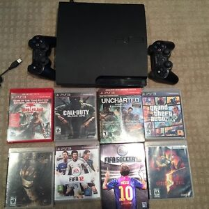 PS3 plus 8 games for sale