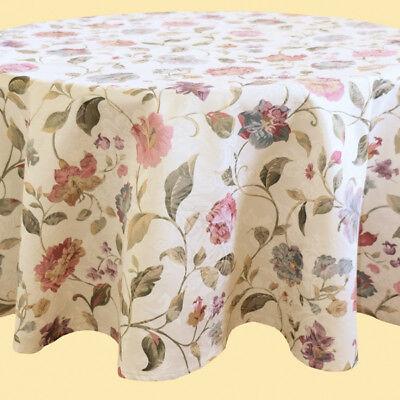 Tischdecke ca. 150 cm rund f. runder Tisch Tafel mit Druck Blume Blumen - NEU