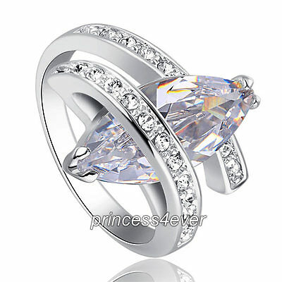 4 Carat High Quality Marquise Cut Cubic Zirconia CZ Stylish Ring (Stylish Cubic Zirconia Ring)