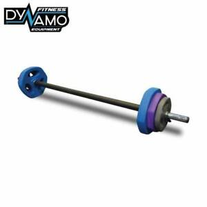 New Pump Set 20kg with Rubber Weight Plates 1.2m Bar and Clips