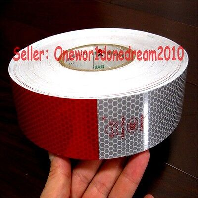 Truck Reflective Conspicuity Tape Wihte Red 10PCS Total 3M = 10' CCC = DOT - C2