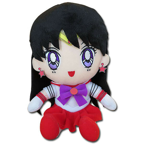 Sailor Moon Sailor Mars Rei Hino Sitting Plush Toy 7-inch Official Licensed
