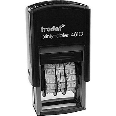 Trodat 4810 Printy Dater Mini Self-inking Date Stamp 4mm Black Ink 2018