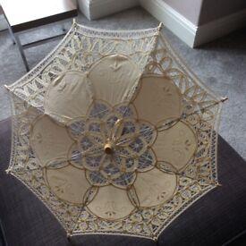 Small lace parasols