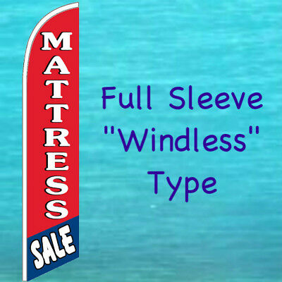 Mattress Sale Windless Banner Flag Tall Curved Advertising Sign Feather Swooper