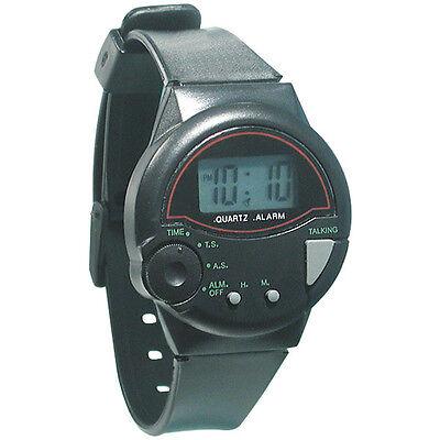 Часы, минуты, будильник, звуковой сигнал - ничего лишнего, на резиновом ремешке.