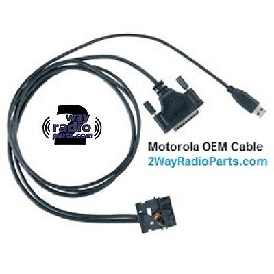 Real Oem Motorola Mototrbo Xpr5350 Xpr5550 Program Test Cable Usb Pmkn4016 A B