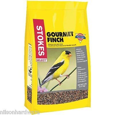 6 Pack Stokes Select 5# Bag Gourmet Finch Mixed Bird Food Seed 9268