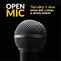 OPEN MIC & WING NIGHT every Thursday at Rockbottom
