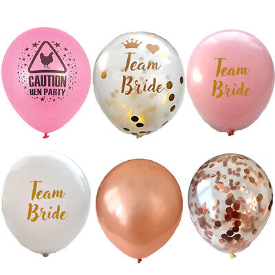 TEAM BRIDE HEN PARTY FOIL CONFETTI BALLOONS TO BE DECORATION BANNER GARLAND
