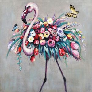 Flamingo Bloom Floral Bird Painting Print Canvas Wall Art Artwork Camp Hill Brisbane South East Preview