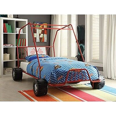 37645t xander twin bed red go kart