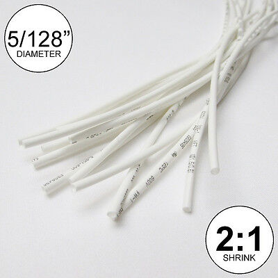 5128 Id White Heat Shrink Tube 21 Ratio Wrap 14x9 10 Ft Inchfeetto 1mm