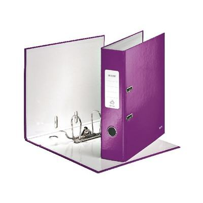 Leitz 180 Wow 80mm Purple A4 Lever Arch File (Pack of 10) 10050062 [LZ55702]