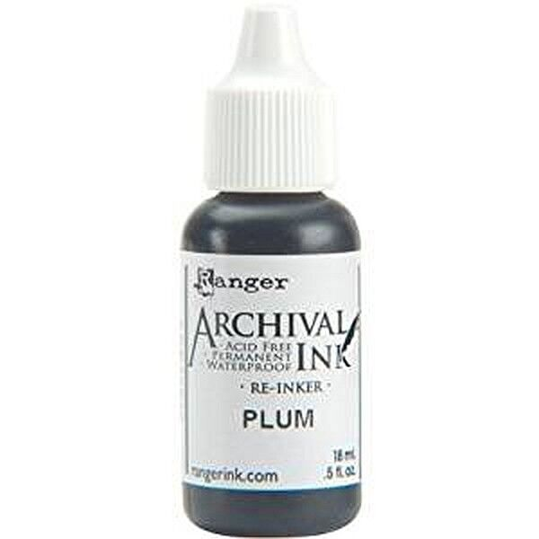 RANGER Archival Reinker .5oz Refill Ink for Stamp Pads Select from 55 colors Plum