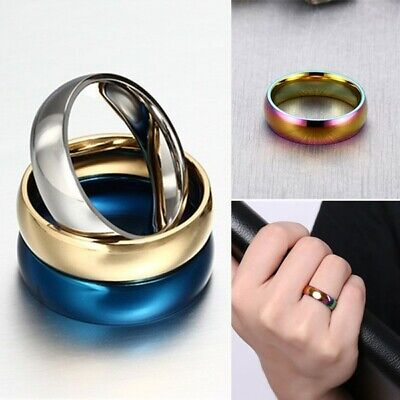 6mm Stainless Steel Comfort Fit Plain Wedding Band Ring for Men Women Size - 6mm Comfort Fit Plain Band