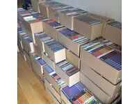 Approx 1800 DVDs and 300 CDs, resale, upcycle, arts & crafts