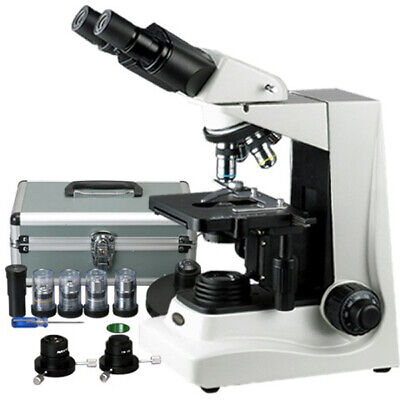 Amscope 40x-1600x Darkfield And Turret Phase Contrast Compound Microscope
